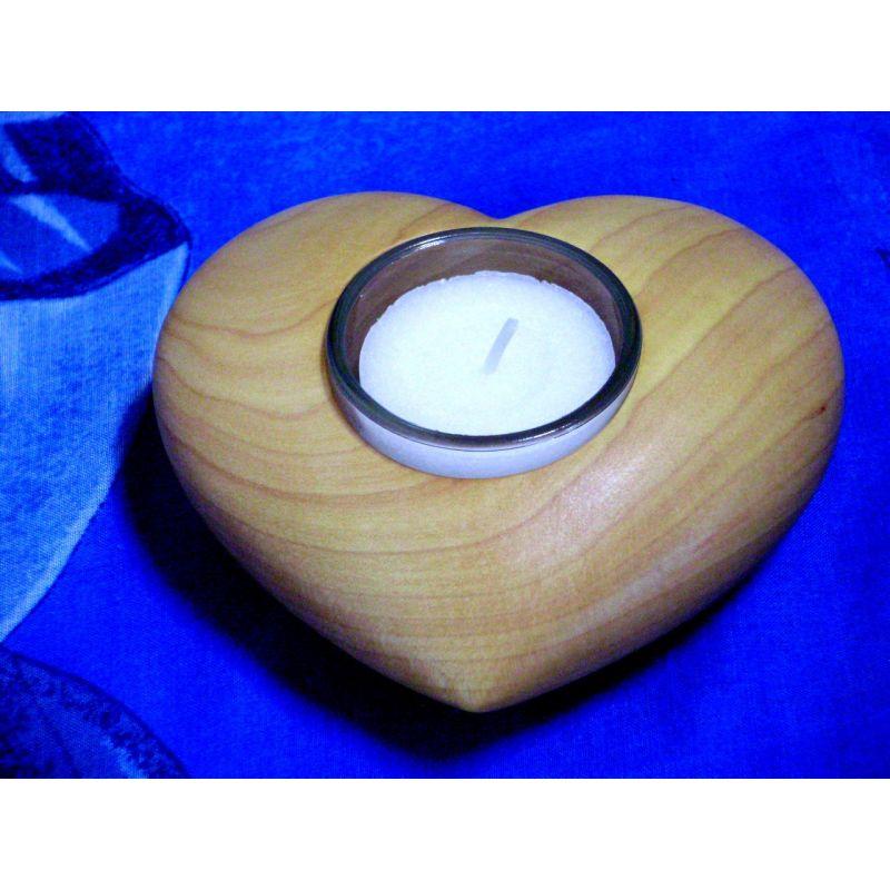 Bougeoir Cœur en bois