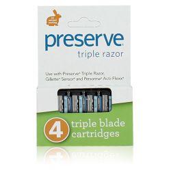 Recharges 4 de lames de rasoir Préserve