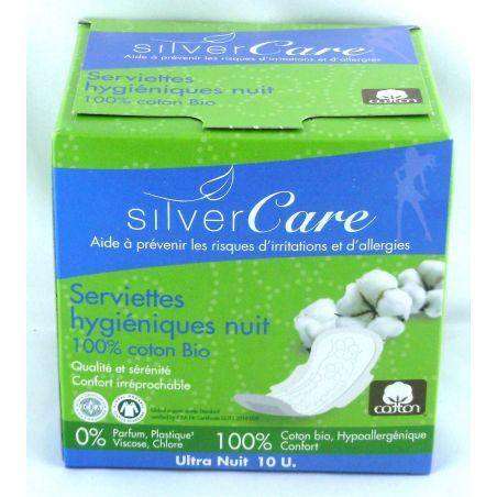 Serviettes hygiéniques ultra fines nuit coton bio