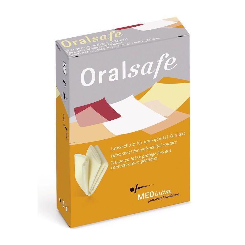 Boites de 8 Digue buccale Oralsafe parfum Fraise